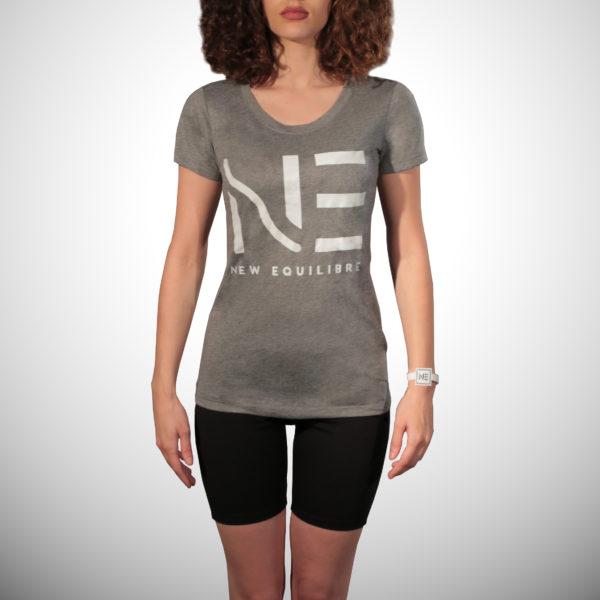 T-shirt Femme Tri-blend Gris