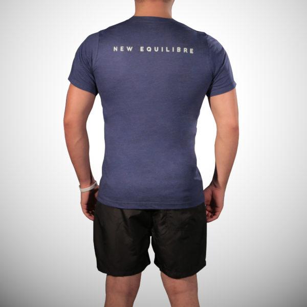 T-shirt Homme Tri-blend Bleu (dos)