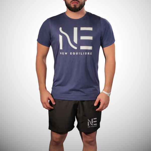 T-shirt Homme Tri-blend Bleu