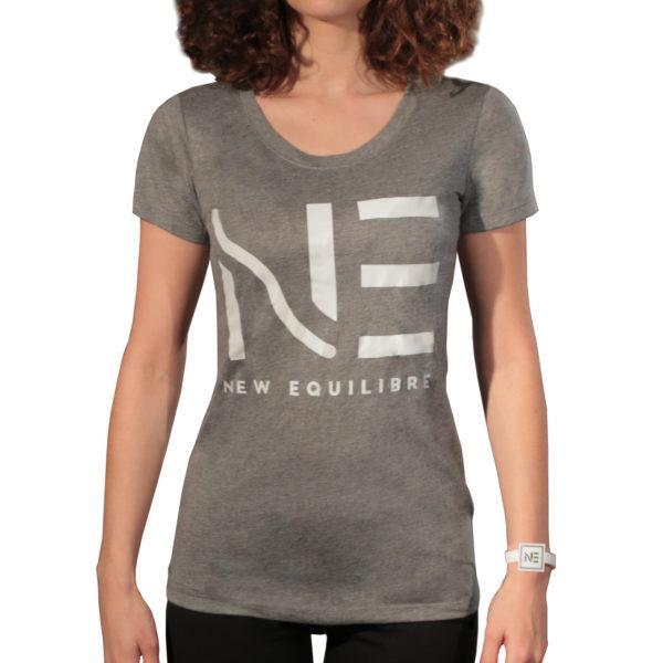 T-shirt Femme Tri-blend Bleu