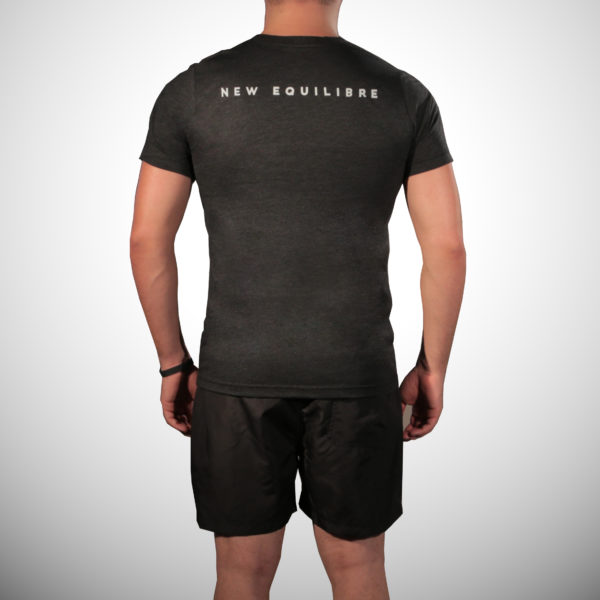 T-shirt Homme Tri-blend Noir (dos)