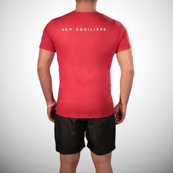T-shirt Homme Tri-blend Rouge (dos)